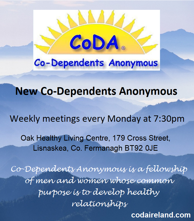 Co-Dependents Anonymous is a fellowship of men and women whose common purpose is to develop healthy relationships.